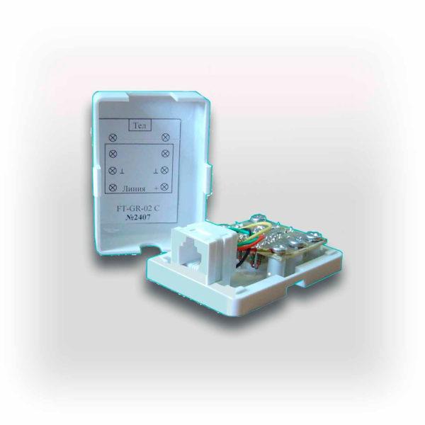 Фильтр телефонный для цифровых линий FT-GR-10,0-2С